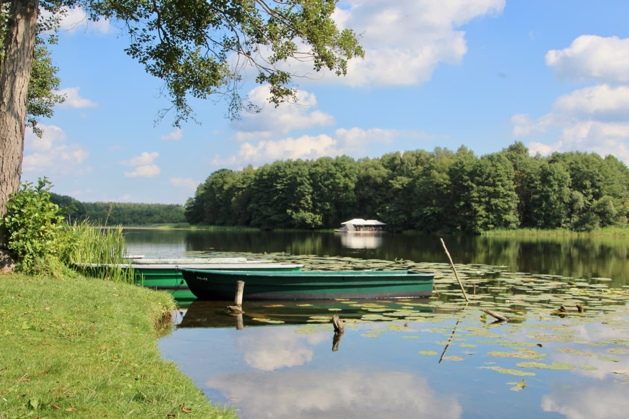 Floß Ruderboot Oberpfuhlsee Lychen